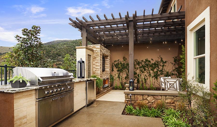 Outdoor grill in the Rockwell floor plan