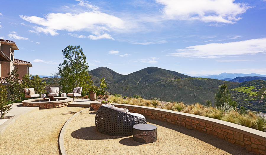 Backyard with mountain view in the Rockwell floor plan