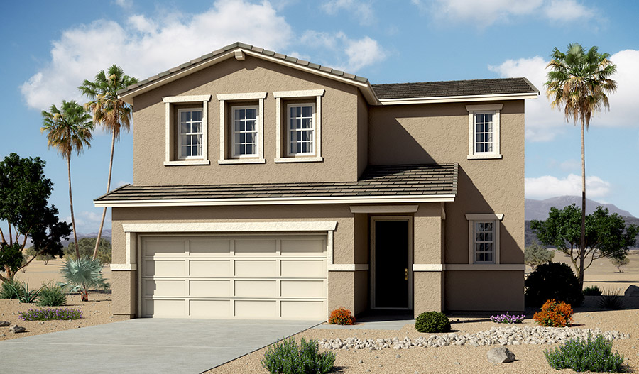 Exterior B of the Coral floor plan in the Moonstone community