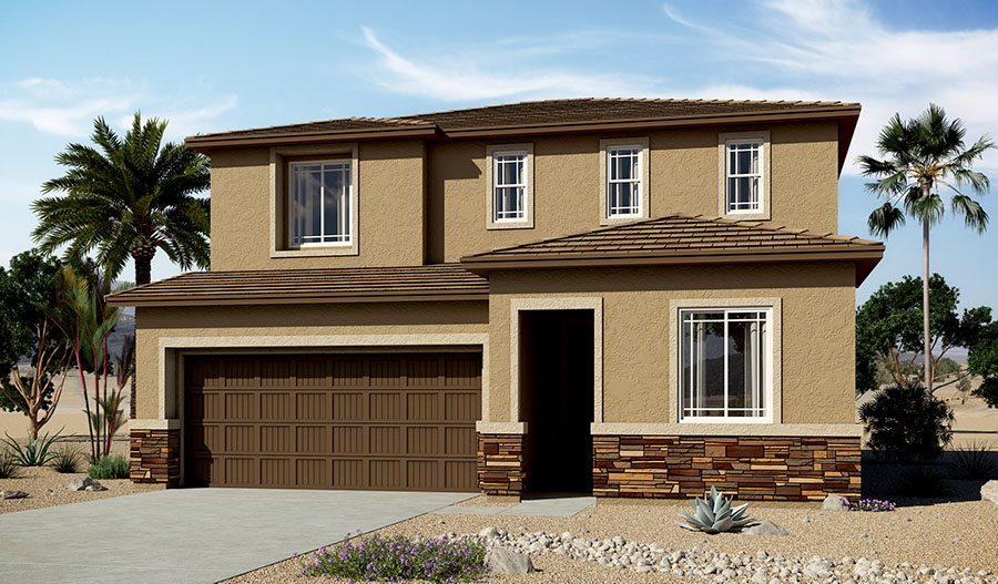 Exterior C of the Citrine floor plan in the Moonstone community