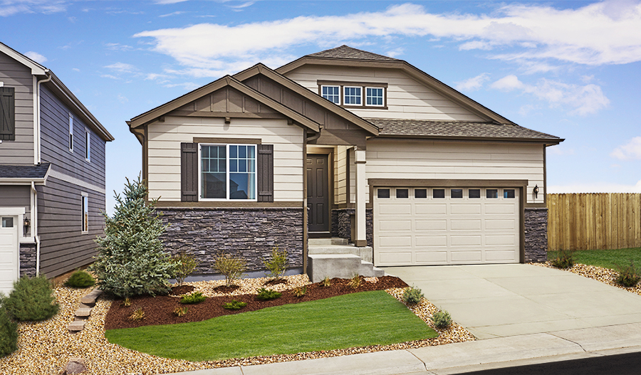 Exterior of the Arlington floor plan in Copperleaf