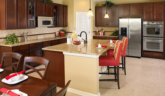 Kitchen in the Delaney floor plan