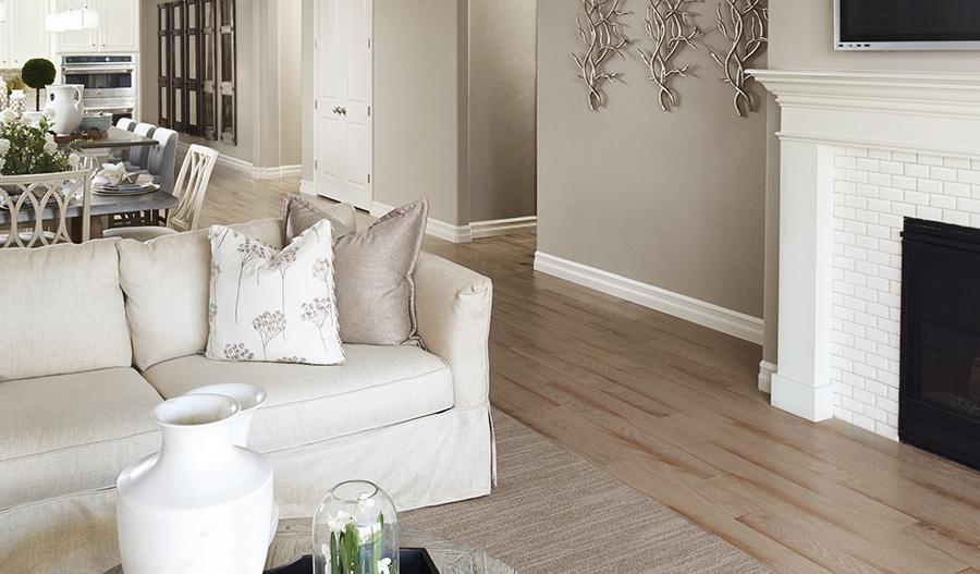 Great room in the Arlington floor plan