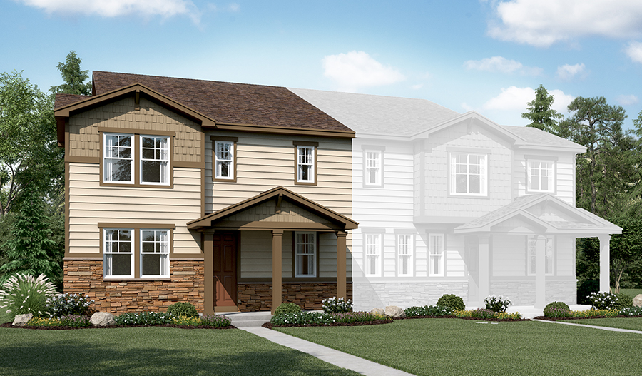 The Norris at The Park at Serenity Ridge - Elevation A