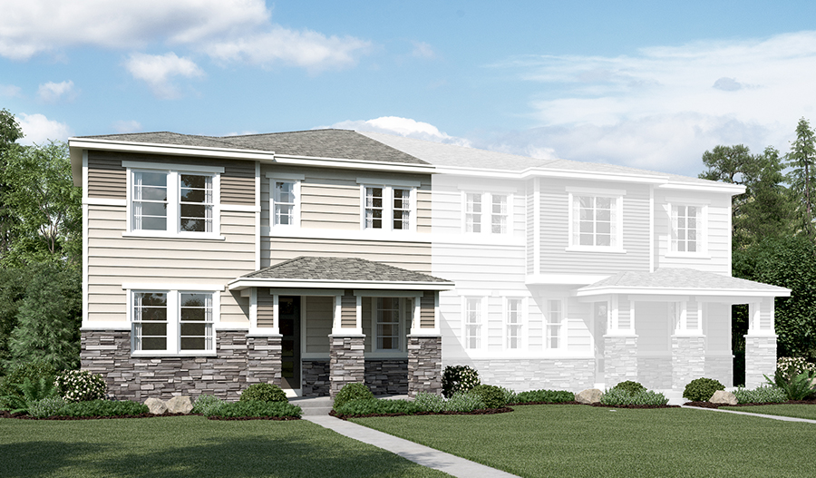 The Norris at The Park at Serenity Ridge - Elevation C
