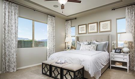 Master bedroom in Allman floor plan