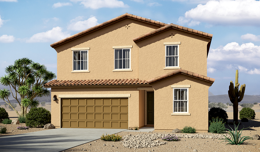 Exterior A of the Pearl floor plan in the La Estancia community