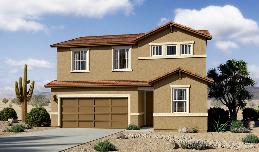 Exterior B of the Pearl floor plan in the La Estancia community