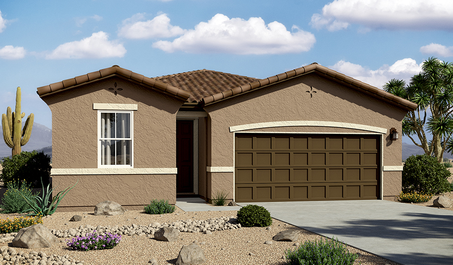 Exterior A of the Peridot floor plan in the La Estancia community
