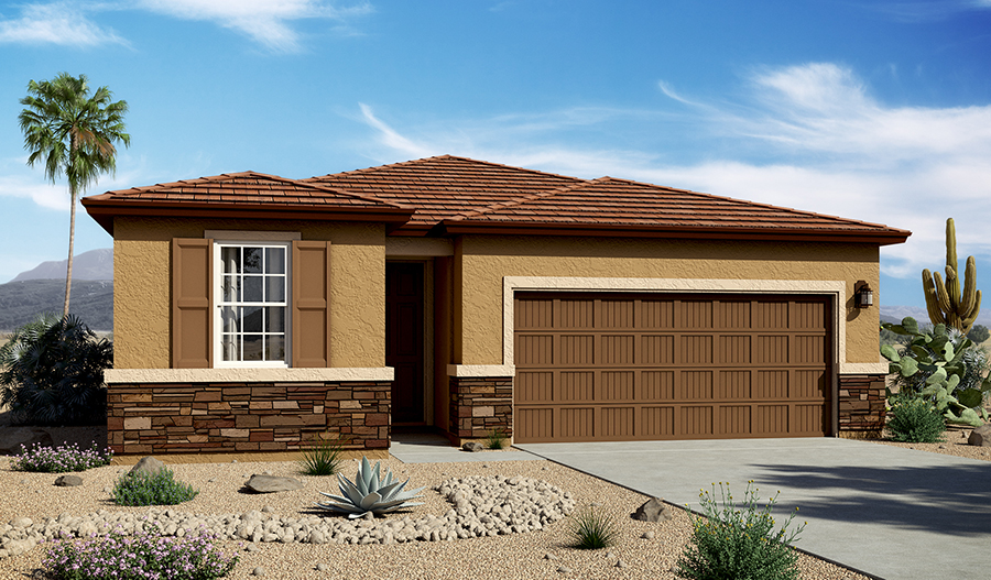 Exterior C of the Peridot floor plan in the La Estancia community