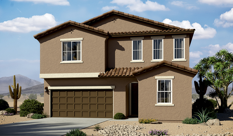 Exterior A of the Moonstone floor plan in the La Estancia community