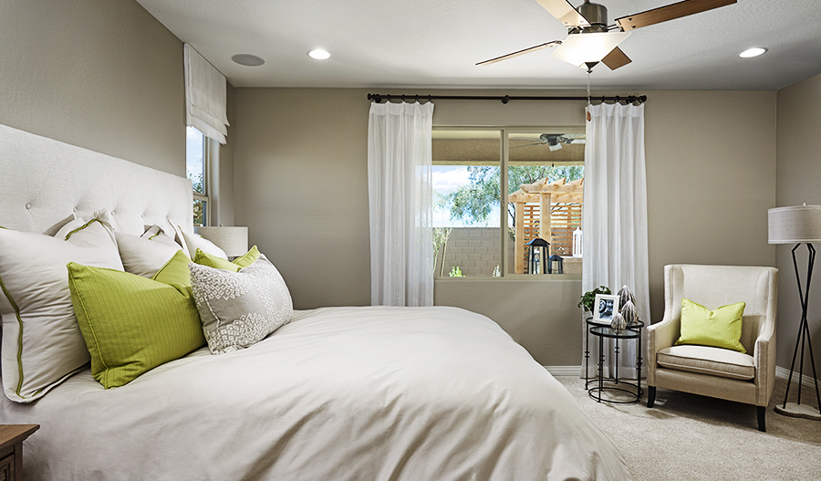 Master bedroom in Peridot floor plan