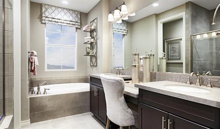 Master bathroom in the Alameda floor plan