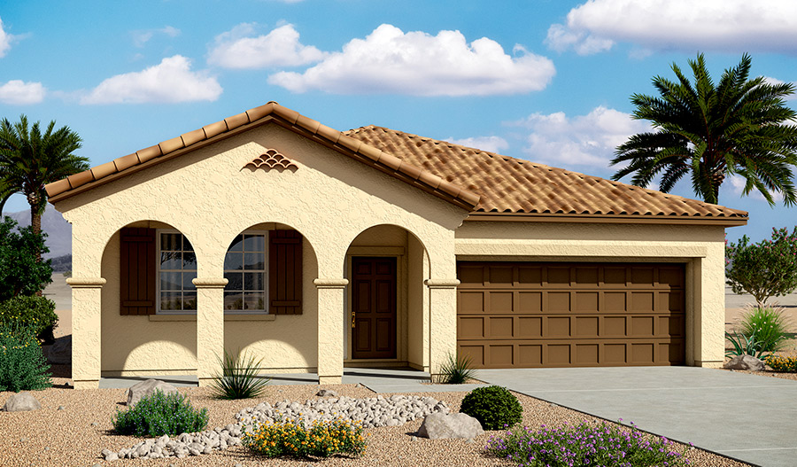 Exterior A of the Anika floor plan in the Bridlewood community