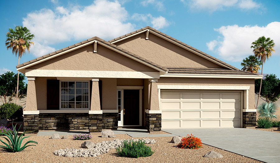 Exterior B of the Anika floor plan in the Bridlewood community