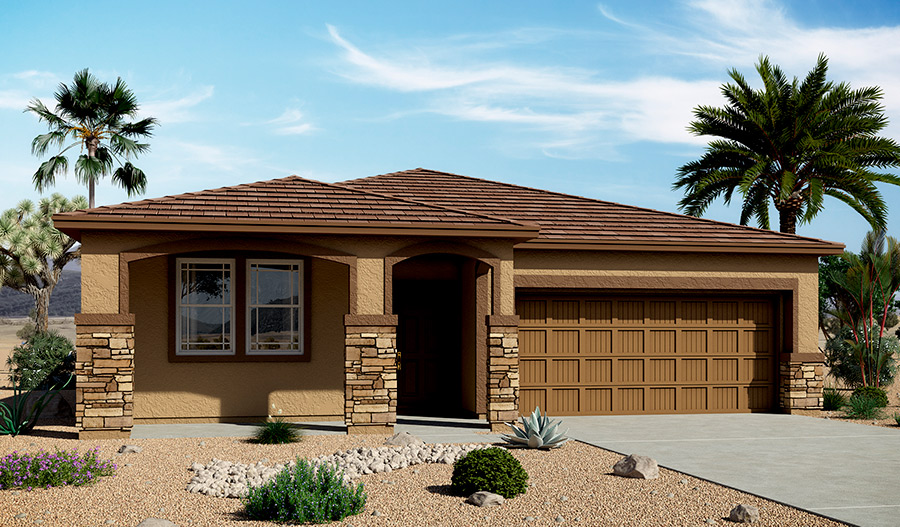Exterior C of the Anika floor plan in the Bridlewood community