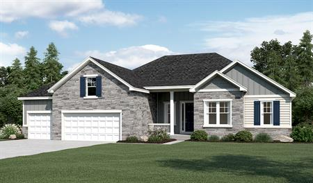 Exterior B of the Harmony floor plan in the Sunset Pointe community