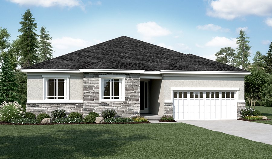 Exterior A of the Daniel floor plan in the River Park community