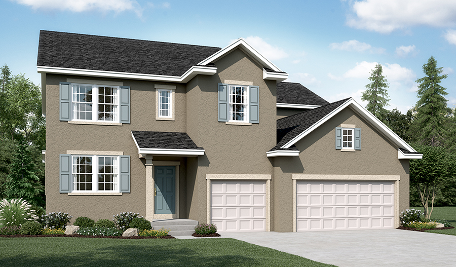 Exterior A of the Dillon floor plan in the River Park community