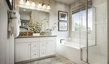 Master bathroom in the Longshore floor plan