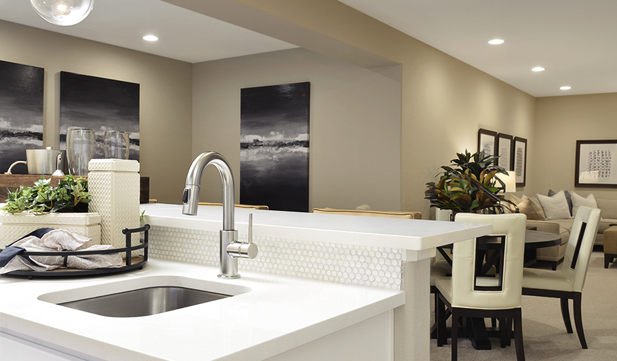 Wet bar in the Yampa floor plan