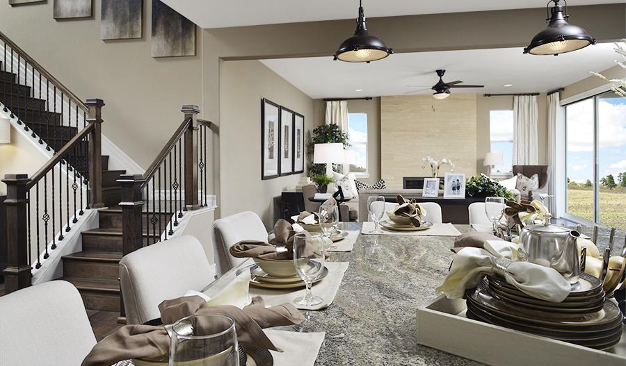 Great room in the Platte floor plan