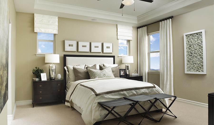 Master bedroom of the Platte floor plan