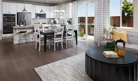 Great room and Kitchen of the Lance floor plan