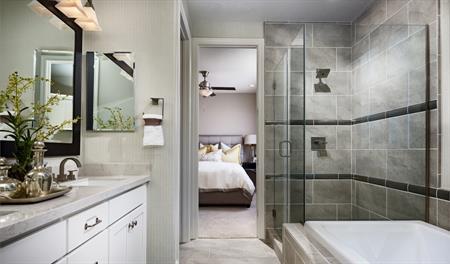 Master bathroom of the Lance floor plan