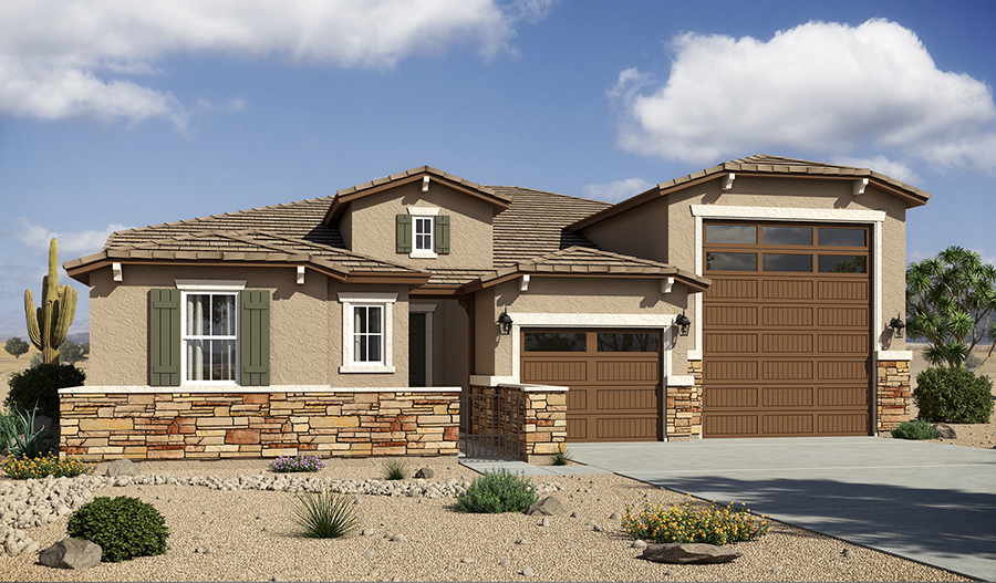 New houses at canyon trails goodyear community for Arizona house plans