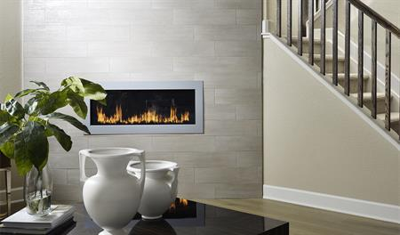 Great room with fireplace in the Hemingway floor plan