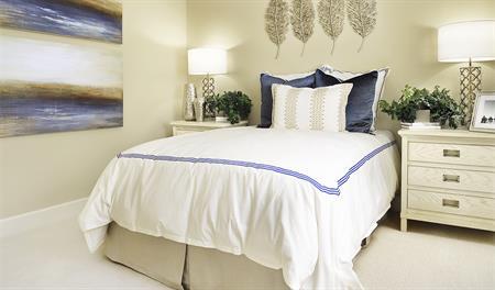 Guest room in the Hemingway floor plan
