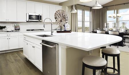 Kitchen and nook of the Hemingway floor plan