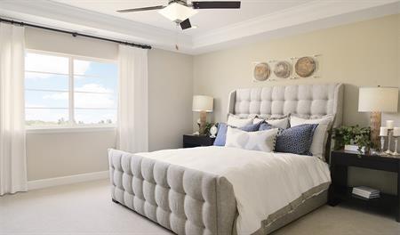 Master bedroom of the Hemingway floor plan