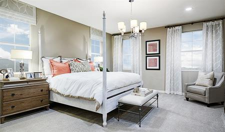 Master bedroom of the Alameda floor plan