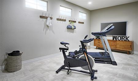 Fitness room in the Balsam floor plan