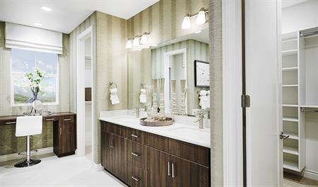 Master bathroom in the Balsam floor plan