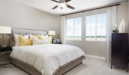 Master bedroom in the Lance floor plan