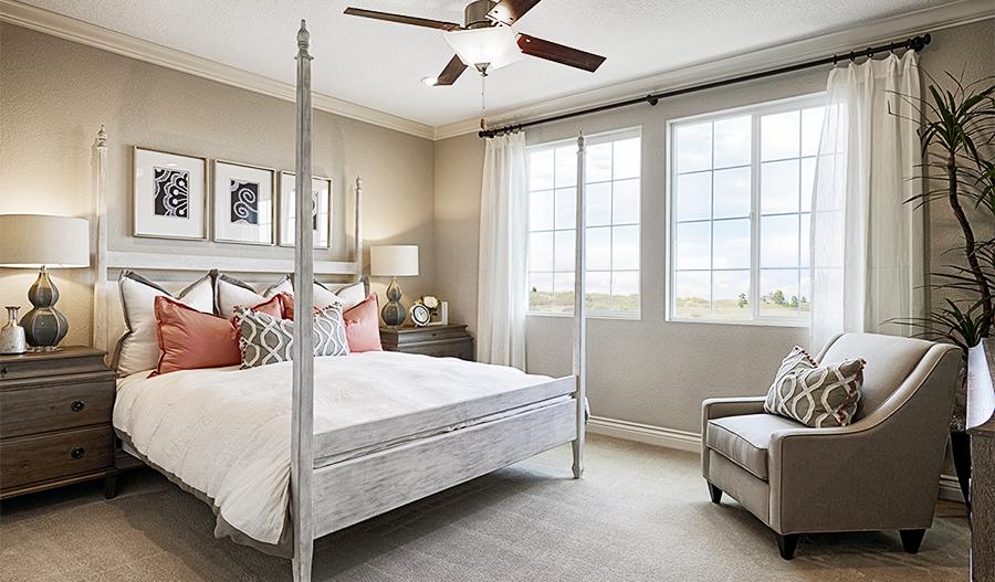 Master bedroom of the Bernard floor plan