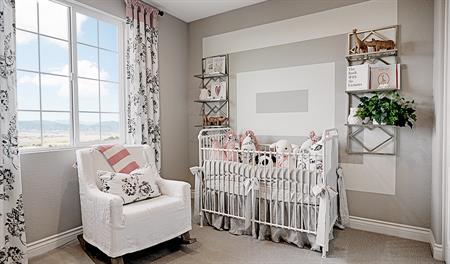 Nursery in the Bernard floor plan