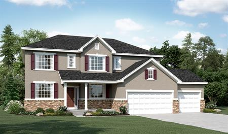 Exterior A of the Daniela floor plan in the Sunset Pointe community