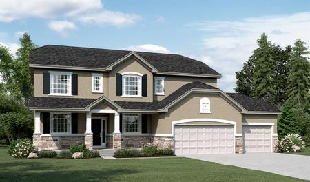 Exterior B of the Daniela floor plan in the Sunset Pointe community
