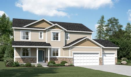 Exterior C of the Daniela floor plan in the Sunset Pointe community