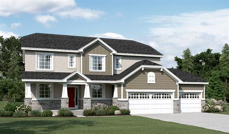 Exterior E of the Daniela floor plan in the Sunset Pointe community