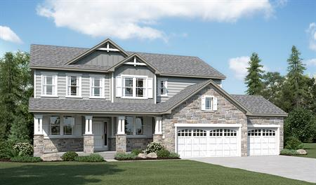Exterior F of the Daniela floor plan in the Sunset Pointe community
