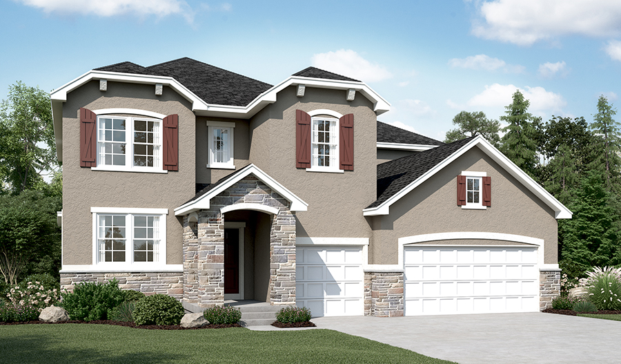Exterior B of the Dillon floor plan in the Sunset Pointe community