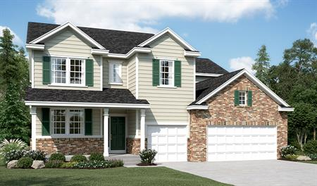 Exterior D of the Dillon floor plan in the Sunset Pointe community