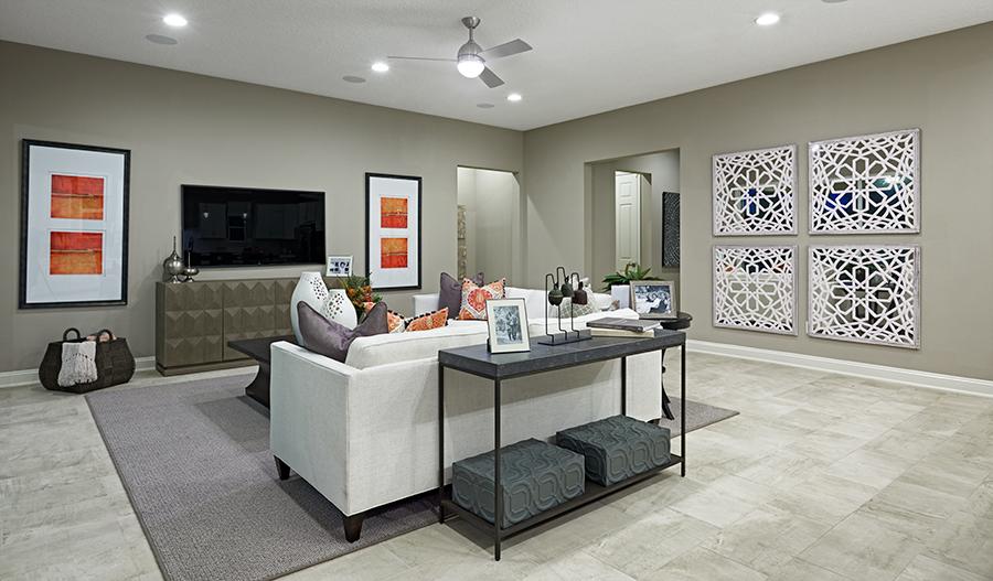 Great room of the Daniel floor plan