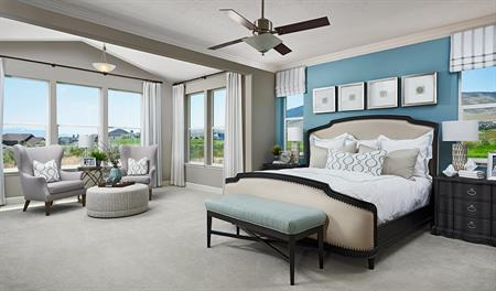 Master bedroom of the Helena floor plan