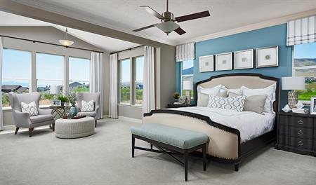 Master bedroom of the Helena floor plan